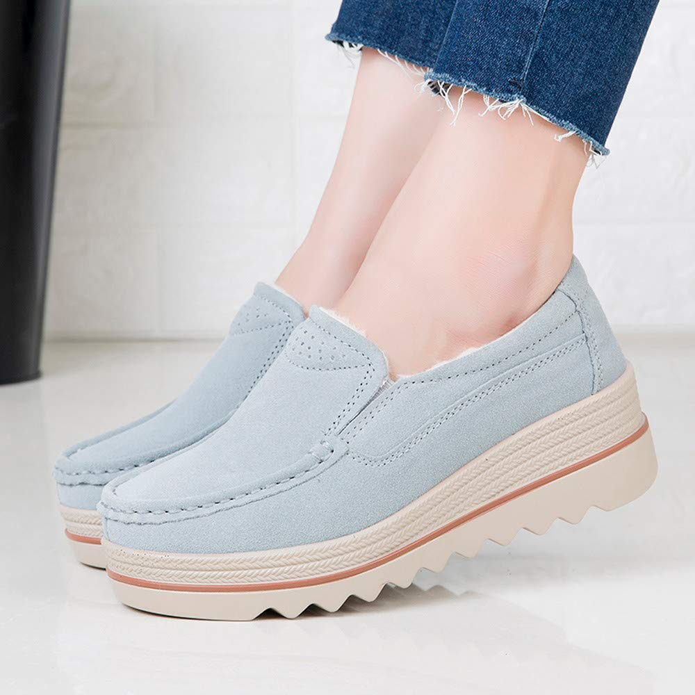 Hunzed Women Shoes Flat Bottom Thickening Increased Casual with Cotton Shoes For fall tall ankle boots riding boots with heel womens casual boots Flock Sole Material:rubber Shoes
