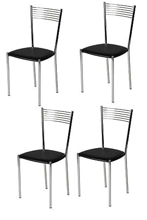 Tommychairs - Juego de 4 sillas Modernas y de diseño Elegante para ...