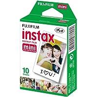 Fujifilm Instax Mini Brillo - Pack de 10 películas fotográficas instantáneas (1 x 10 hojas), color blanco