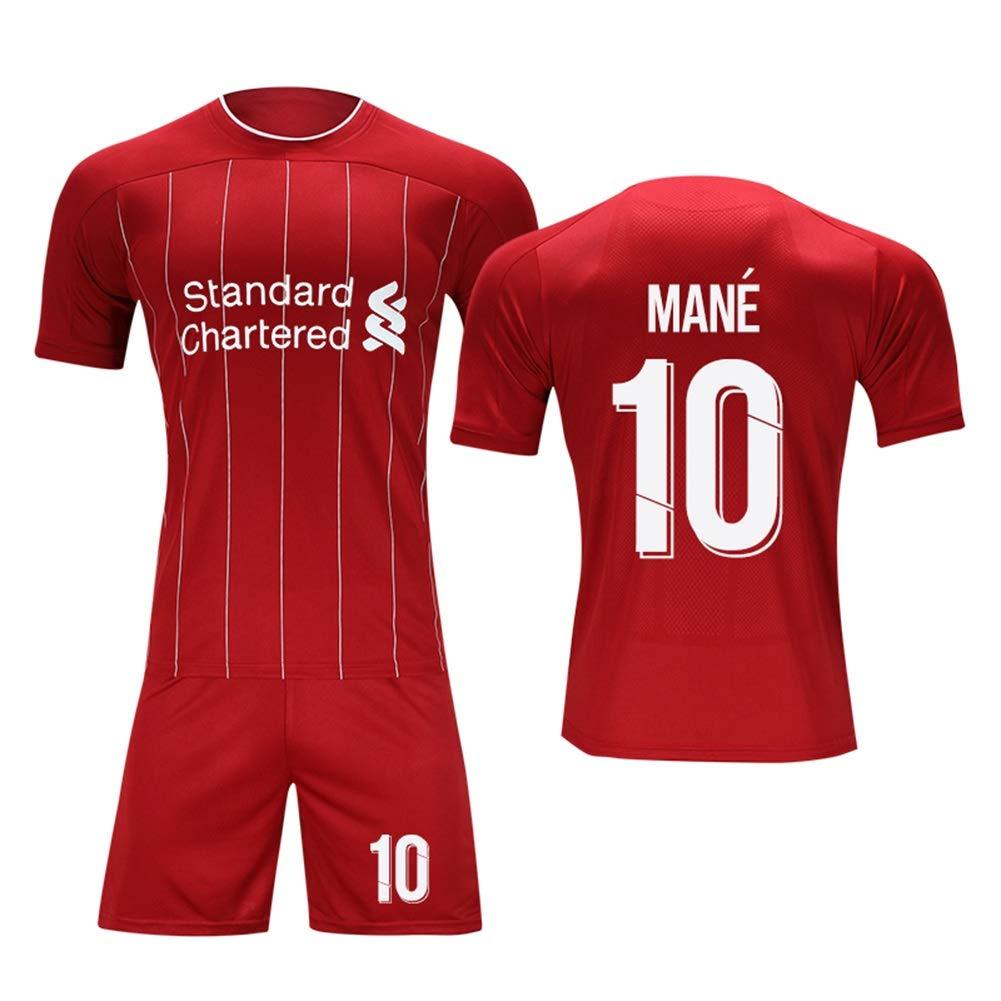 LDFN Sadio Mane # 10 M/änner Fu/ßball Jersey Short SleeveSport Trikots T-Shirt-Fan-Hemd