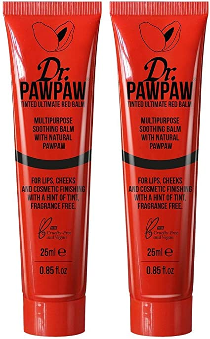 Dr PAWPAW Balm for Lips, Skin, Hair, Nails and Cuticles (Duo Pack, Ultimate Red): Amazon.es: Belleza