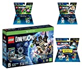 Lego Dimensions Ghostbusters Starter Pack + Peter Venkman Level Pack + Slimer + Stay Puft Fun Packs for Xbox One or Xbox One S Console
