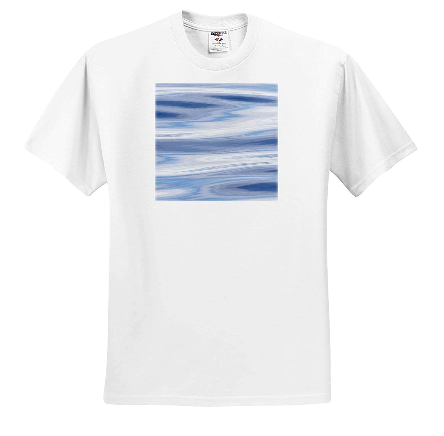 ts/_313896 3dRose Danita Delimont Waves Reflecting Sky in Blue Abstracts Grey and Silver - Adult T-Shirt XL