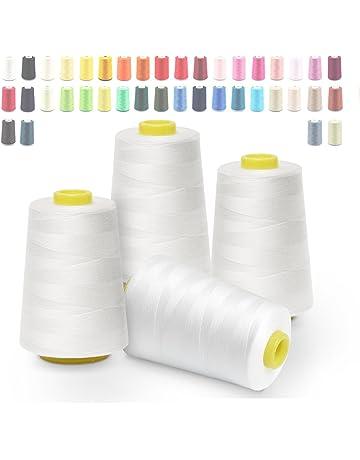 Hilos de coser de poliéster Cubewit 4 PCS hilo de coser remalladora para la máquina de