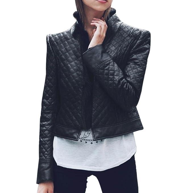 Internert Las señoras de las mujeres de imitación de cuero Outwear Street shot guay chaqueta de moto guay Chaqueta estilo motorista Racing Style: Amazon.es: ...