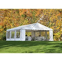 ShelterLogic 25920 Party Tent and Enclosure Kit 20x20-Feet/6x6-Millimeter White
