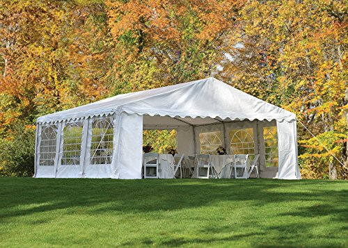 ShelterLogic 25920 Party Tent & Enclosure Kit 20×20 ft / 6×6 mm White