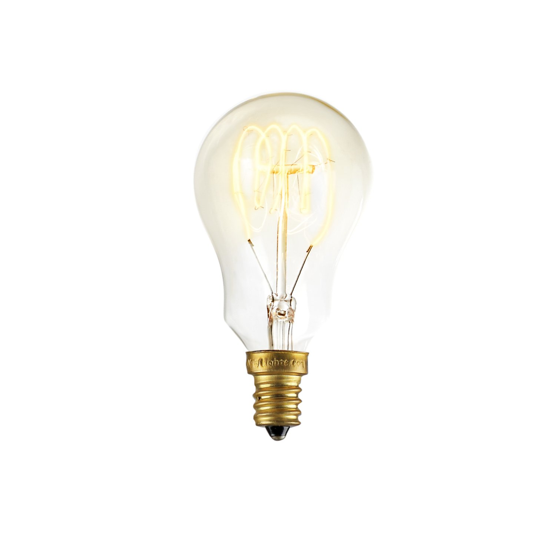 Warm White Glow Mini Coney Island Design by Brooklyn Bulb Co LC003129 40W Candelabra Edison A15 Vintage Bulbs Fully Dimmable E12 Socket Set of 4 Brooklyn Bulb Co Spiral Filament