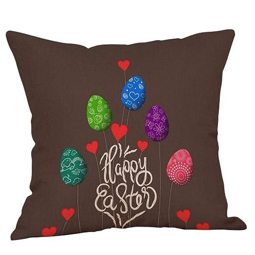 LEEDY2019 Happy Easter Bunny Funda de Almohada Plaza Sofá de ...