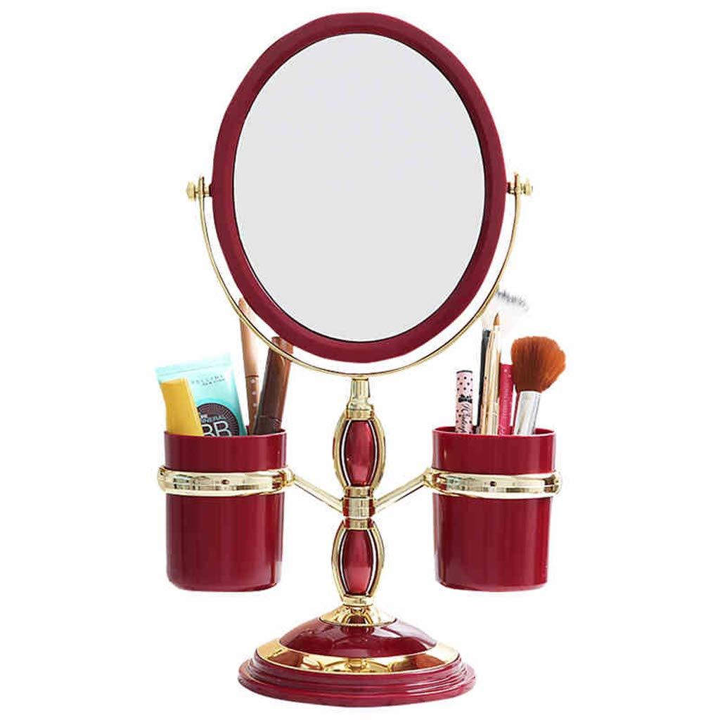 CQ Girl Heart Desktop Makeup Mirror Double-Sided Rotating HD Big Princess European Mirror