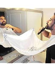 grembiule per barba. Grembiule con ventose per specchio. Cattura barba e capelli. Non preoccuparti di rimuovere peli della barba, capelli e baffi nel bagno (bianco)
