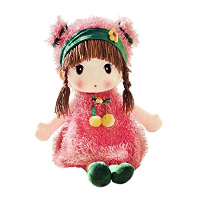 HWD Kawaii 17 inch Stuffed Plush Girl Toy Doll . Good Gift for Kids Baby Lover.(Pink): Toys & Games