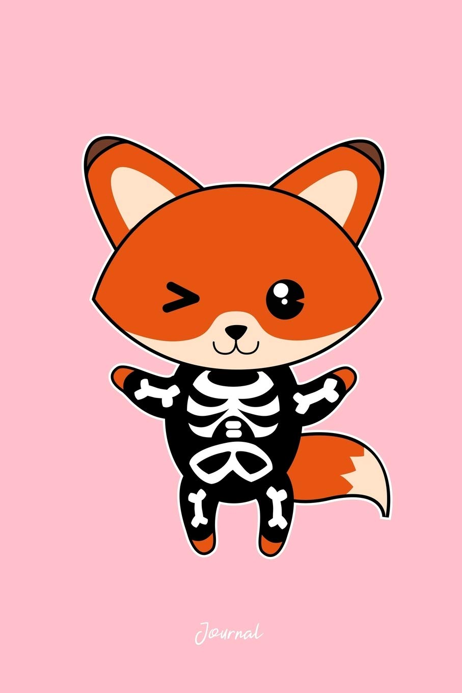 Journal: Dot Grid Journal - Fox Skeleton Cute Easy Animal ...