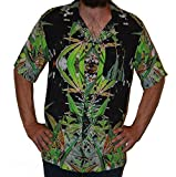 Hawaiian Shirts Mens Rayon Aloha Party Holiday Blueberry- M