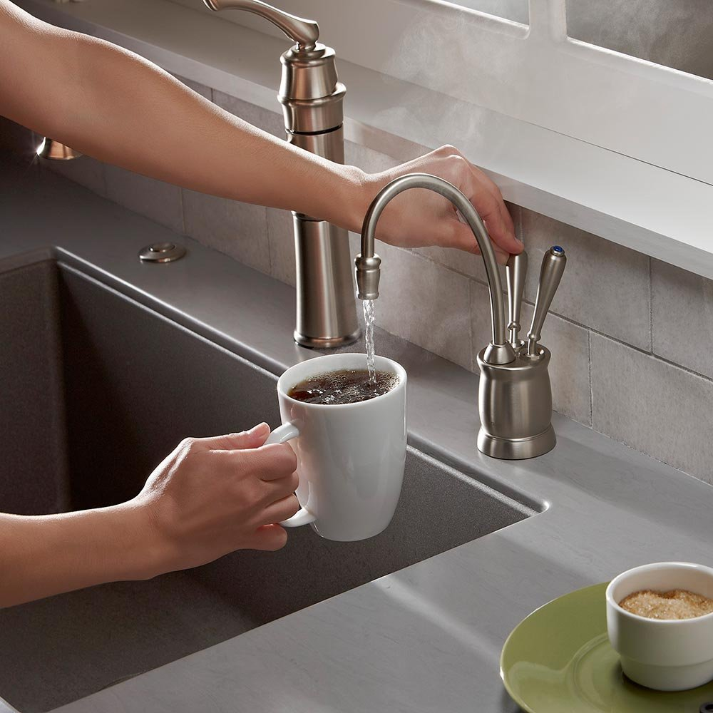 InSinkErator F HC2215C Indulge Tuscan Hot And Cold Water Dispenser Faucet,  Chrome     Amazon.com