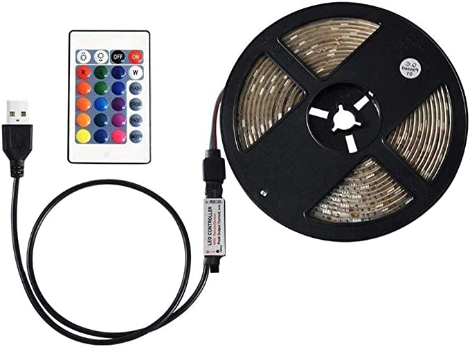Galapara SMD3825 - Tira de Luces LED RGB con Mando a Distancia, Regulable, 16 Colores, 4 Modos de iluminación, Resistencia al Agua IP65, para TV, Type 5: Amazon.es: Hogar