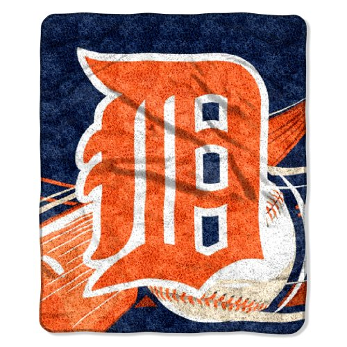 Officially Licensed MLB Detroit Tigers Big Stick Sherpa Throw Blanket, 50