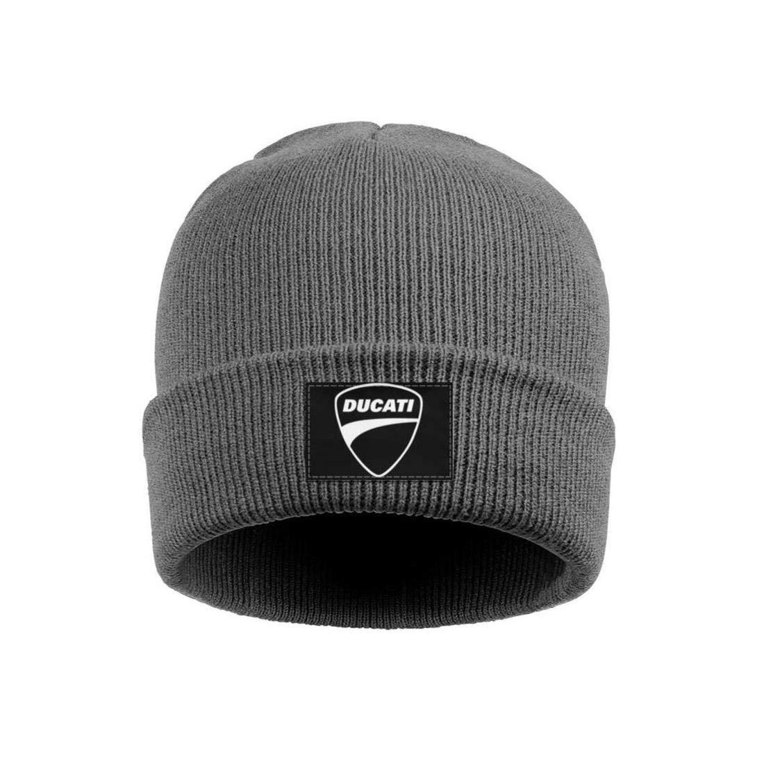 Wool Beanie Cap Knit Caps Fine Knit Beanie Skull HatsSoft Slouchy Men Ducati-Motorcycle-Logo