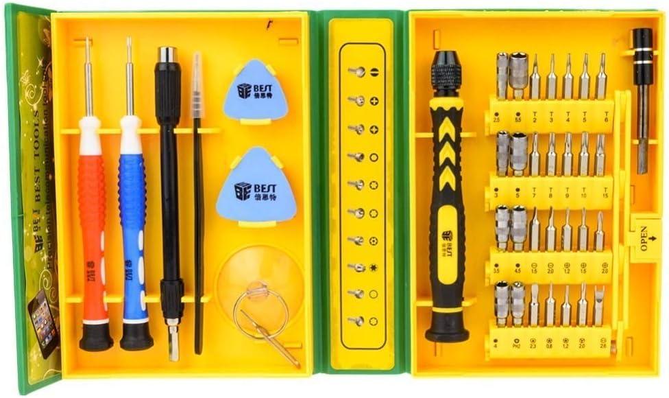 Fulok Easy Precision Multipurpose Screwdriver Set BEST-8921 38 in 1 Repair Opening Tool Kit Fix for//Laptop//Smartphone//Watch with Screws