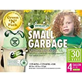 Green N Pack Controlled Life Drawstring Trash Bags 4 Gallon 30-Count Boxes (pack of 4)