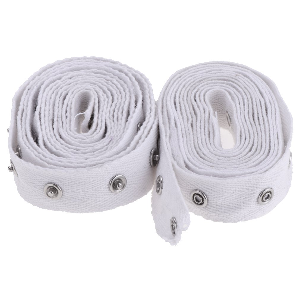 Homyl 2 Yards White Sewing Snap Tape Metal Snap Buttons Zipper Fastener Replacement 20mm Width for Baby Lingerie Teddy Crotch Sewing DIY