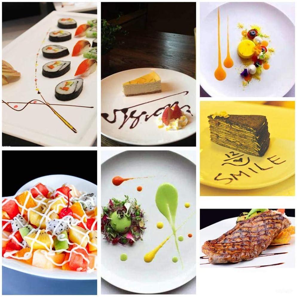 MQDL D/éco-Spoon-Set,Dekorierl/öffel mit Funktionsteil aus Edelstahl 1pc L Garnierl/öffel mit Anti-Rutsch-Griff,Chef Culinary Drawing Spoons