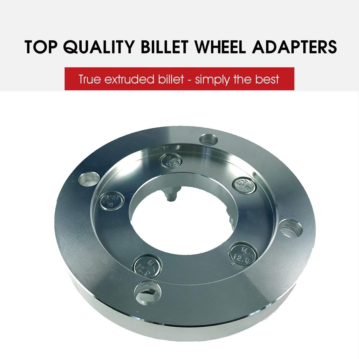 2 Wheel Adapters 4x156 to 5x4.5 Thickness 1 Inch 4x156 to 5x114.3