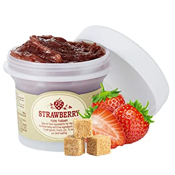 Amazon Com Skinfood Black Sugar Strawberry Mask Wash Off 3 38 Fl Oz 100g Facial Cleansing Products Beauty