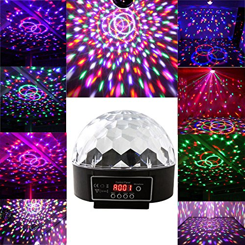 econoLED 6 LED Disco Dj Stage Lighting LED RGB Crystal Magic Ball Effect Light DMX Light KTV Party