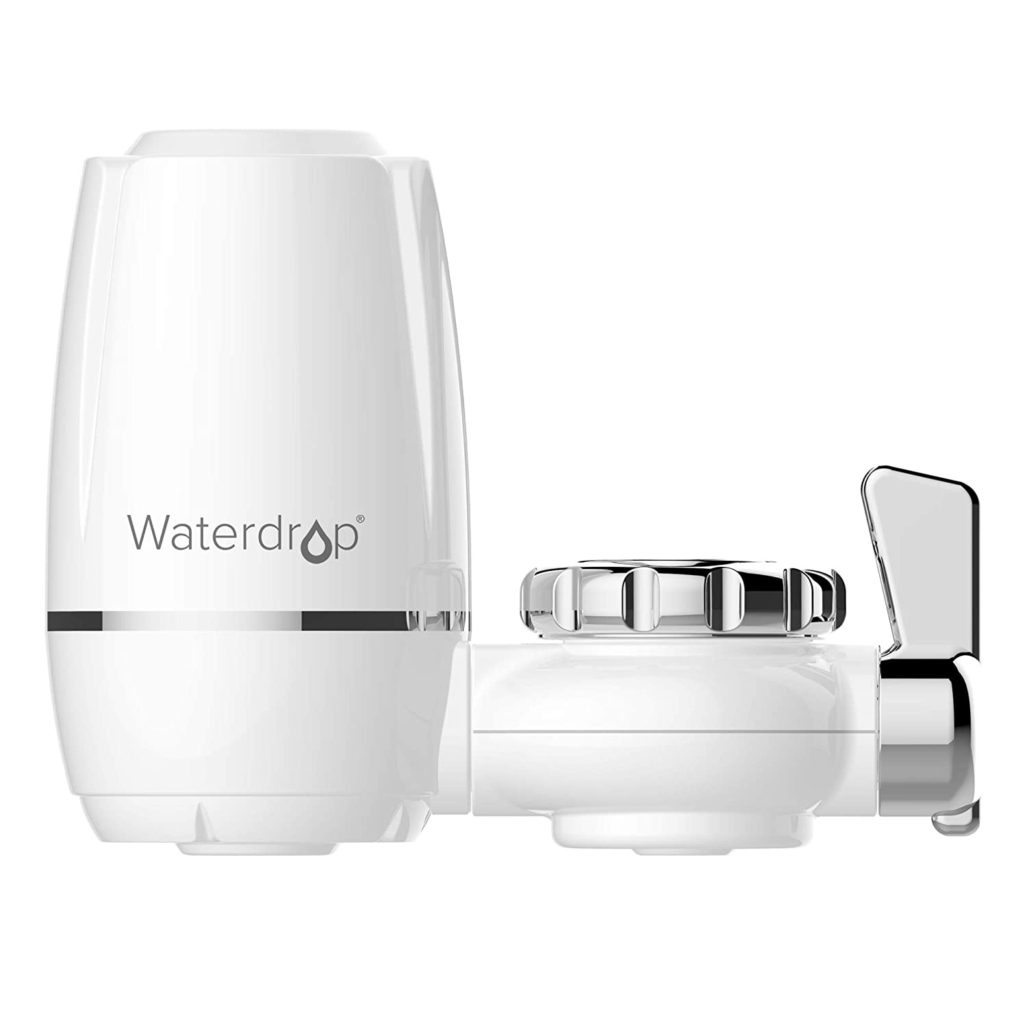 320-Gallon Long-Lasting Water Faucet Filtration System, Faucet Water Filter, Tap Water Filter, Removes Chlorine, Metals & Sediments - Fits Standard Faucets (1 Filter Included), by Waterdrop