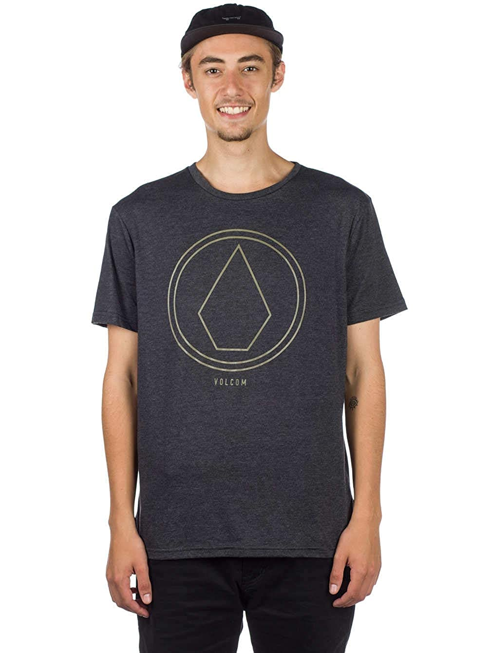 TALLA L. Volcom Pinline Stone HTH SS Camiseta, Hombre