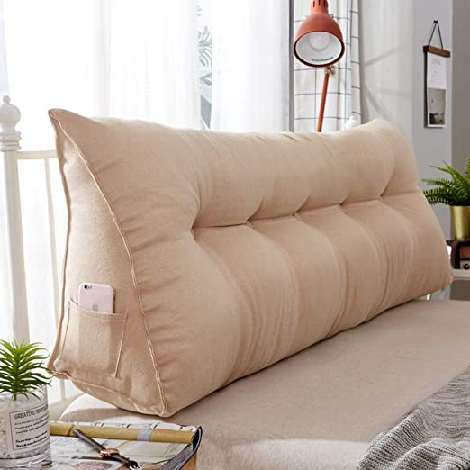 or Watching TV HILTOW Backrest Reading Pillow Triangle Pillow Back Wedge Cushion Bed Rest Pillow Back Support Pillow Gaming Reading Perfect for Back Support While Relaxing