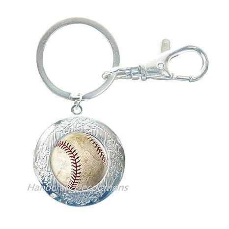 Amazon.com: Llavero de béisbol, colgante de béisbol, llavero ...