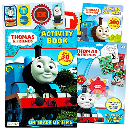Thomas the Train Coloring and Activity Book Set with Over 160 Stickers (2 Books, 12 Sticker Sheets)]()
