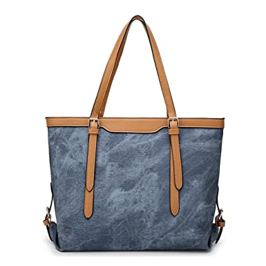 Image Unavailable. Image not available for. Color  Denim Bags s Handbags  Leather Bag Vintage Shoulder Bags Canvas Large Tote Bag ced4575b87