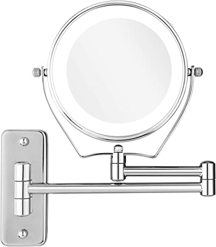 Bathroom Accessories Bath Mirror 1x 5x Magnification Wall Mounted Adjustable Makeup Mirror Arm Extend Mirrors