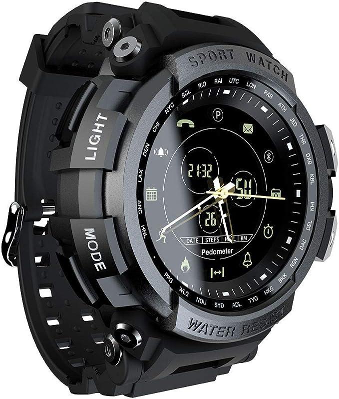 LOKMAT - Reloj Digital Deportivo analógico para Hombre, Resistente al Agua, Bluetooth, Reloj Inteligente con calorías, cámara remota, recordatorio de ...
