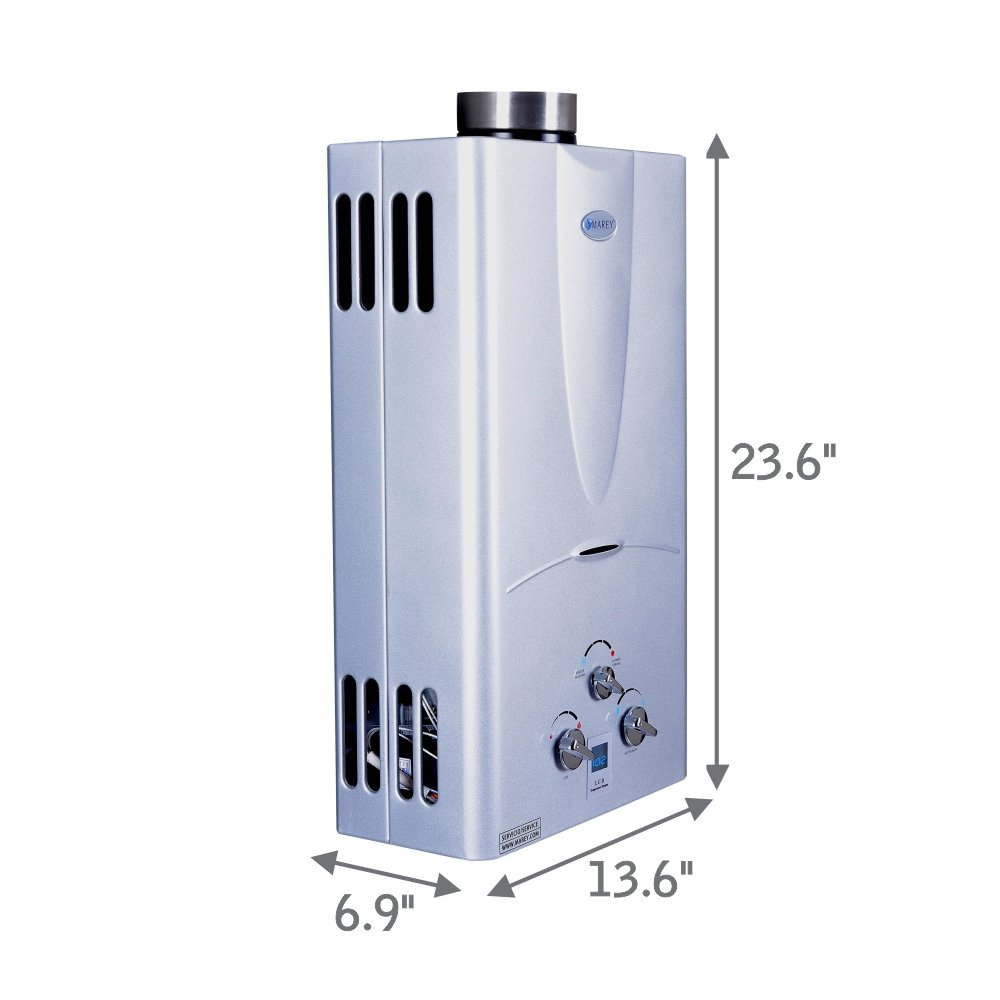 Marey Power Gas 10L 2.7  GPM Propane Gas Digital Panel Tankless Water Heater by MAREY (Image #4)