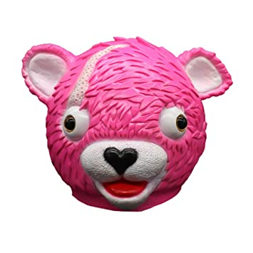 SehrGo Máscara de Cabeza de Oso Rosa Fiesta de Animales de Halloween Juego de Disfraces de