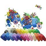 PF Ultra-light Plasticine Modeling Clay Artist Studio Toy, 24 color Clay Set