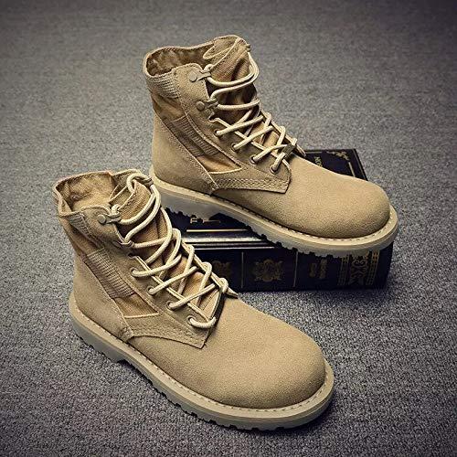 Shukun Herren Stiefel Martin Stiefel Herren High-Top Herrenschuhe Herbststiefel Werkzeug Desert Stiefel in den Gelben Stiefeln Wild Short Stiefel