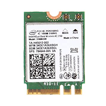 Chuxioner para Intel Wireless AC 3160NGW Doble Banda 2.4/5.8 ...