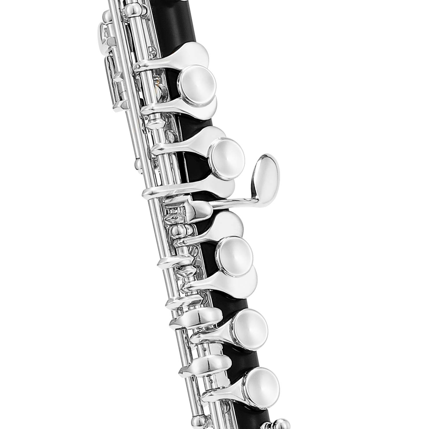 Eastar EPC-3S Black Resin Piccolo Key of C 2-Piece With Silver Plated Keys Hard Case Fingering Chart, Cleaning Rod, Cloth, Swab and Gloves by Eastar (Image #3)
