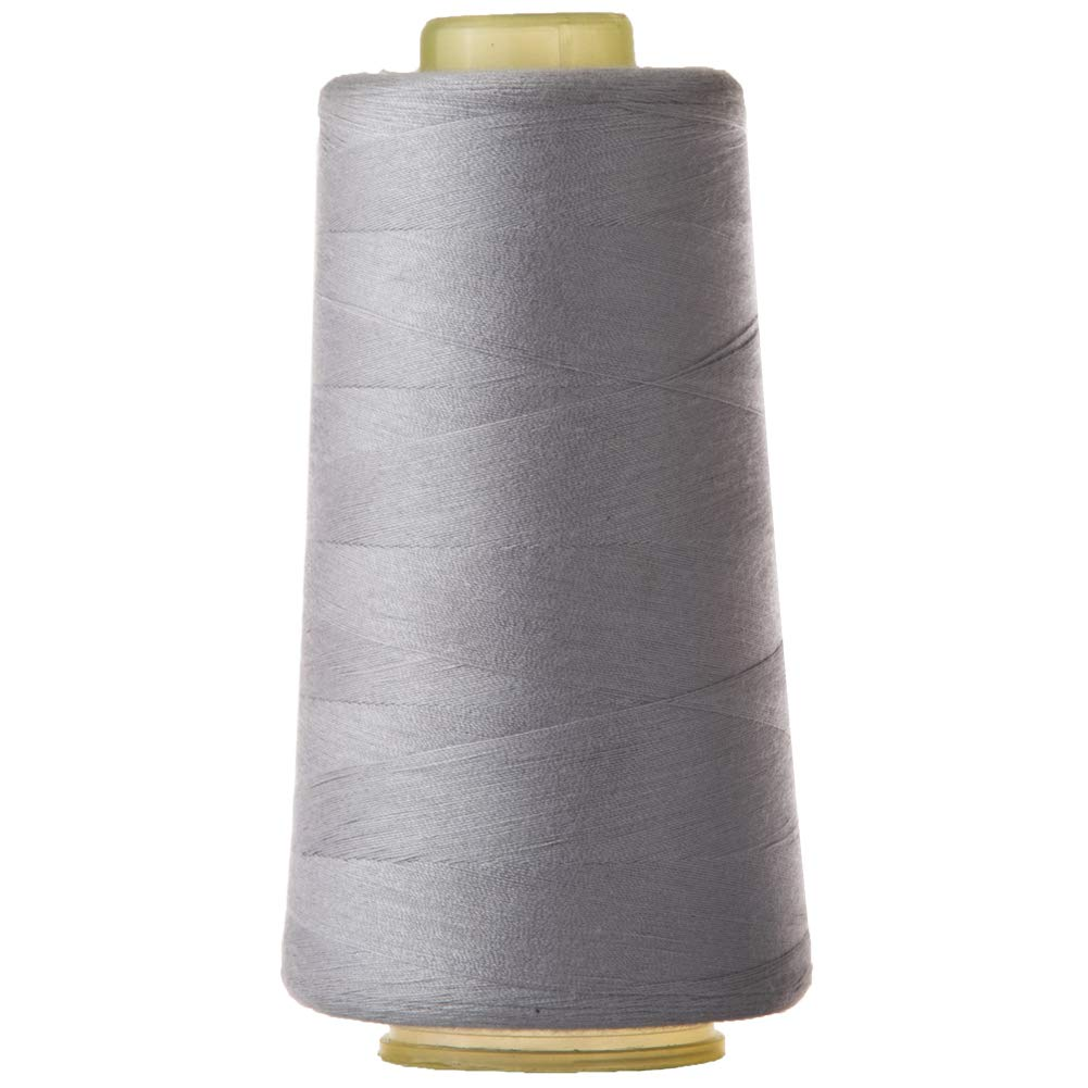 Polyester Sewing Thread Quilting Thread for Sewing Machine All Purpose Sewing Thread Cone for Serger Overlock Merrow Single Needle 3000 Yards Each White