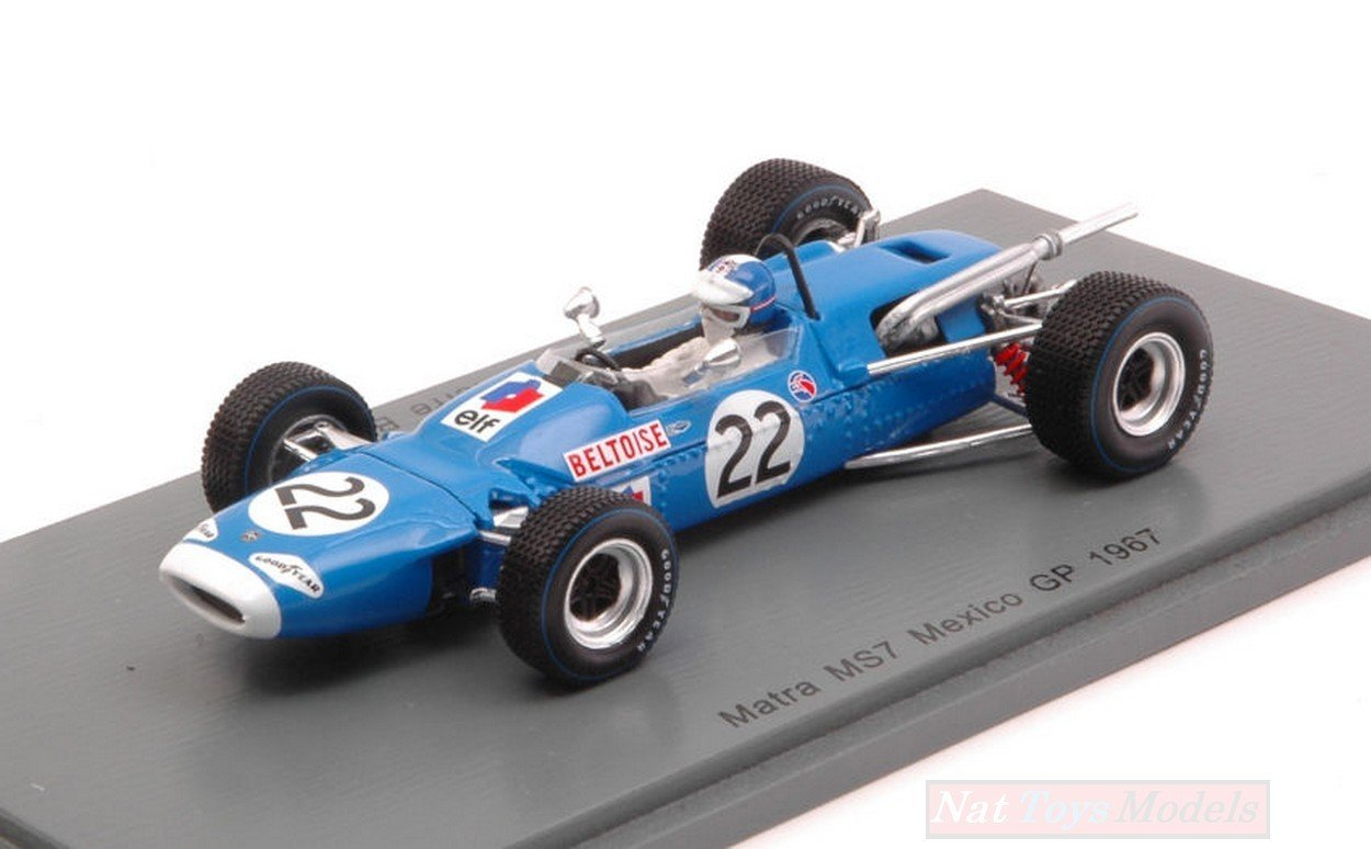 Spark Model S4289 Matra M57 Jean-Pierre BELTOISE 1967 N.22 7th Mexican GP 1:43