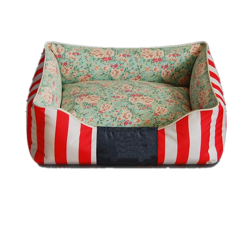 35x45 cm Mzdpp Luxury Pet Bed Floral Pillows Removable And Washable Cats And Dogs Soft Mattresses Canvas 35  45 Cm