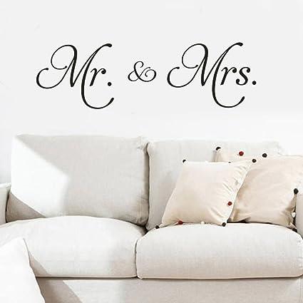 Amazon Com Chouron Mr And Mrs Husband And Wife Couple Wall