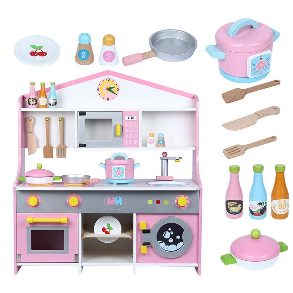 WDXIN Juguete de casa Juegos niños Educativo La Cocina Estufa Muñeca de Madera niña niño Juego Juego de Juguete para cocinar Desarrollando sabiduría.