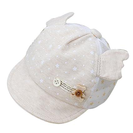 Kanggest Gorra de Malla de Algodón de Bebé de Verano con Pequeñas Alas  Sombrero de Béisbol b43ed6ada4a