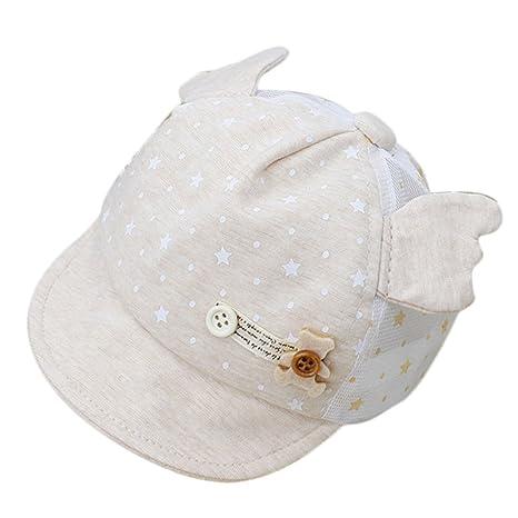 04fd483d04c4c Kanggest Gorra de Malla de Algodón de Bebé de Verano con Pequeñas Alas  Sombrero de Béisbol ...